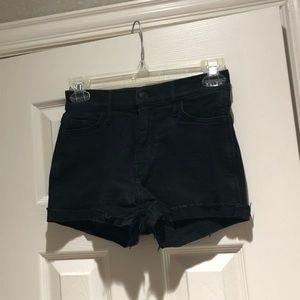 Black denim High Rise Holister Shorts sz 0